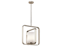 City Loft Large Pendant in Polished Chrome with a White Opal Glass Shade - KICHLER KL/CITY LOFT/P/L